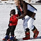 Back in 2008, Gwen Stefani helped then-2-year-old Kingston get steady on a pair of skis in Deer Valley, UT.