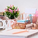 Rosework Rose Gold Desk Organizer