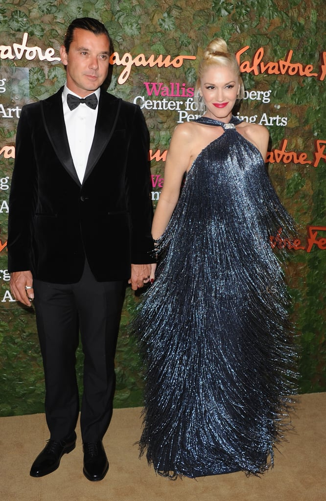 Gwen Stefani and Gavin Rossdale held hands as they posed together for photographers.