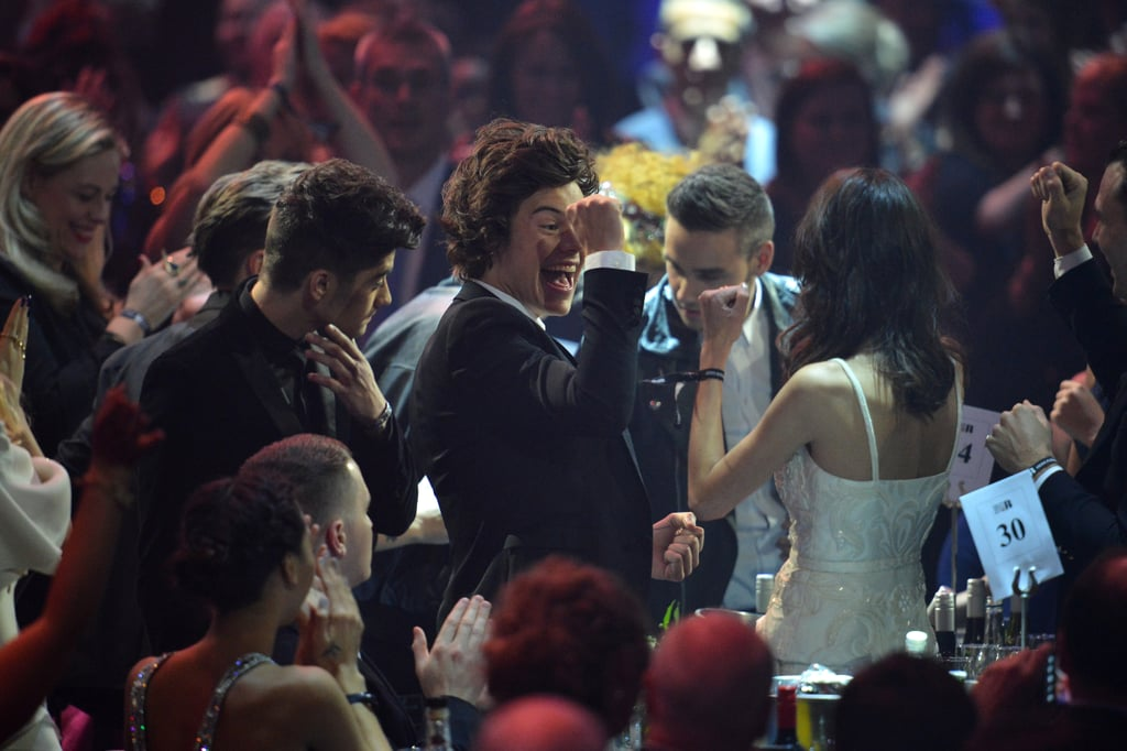 One Direction Celebrating at the Brit Awards in 2013