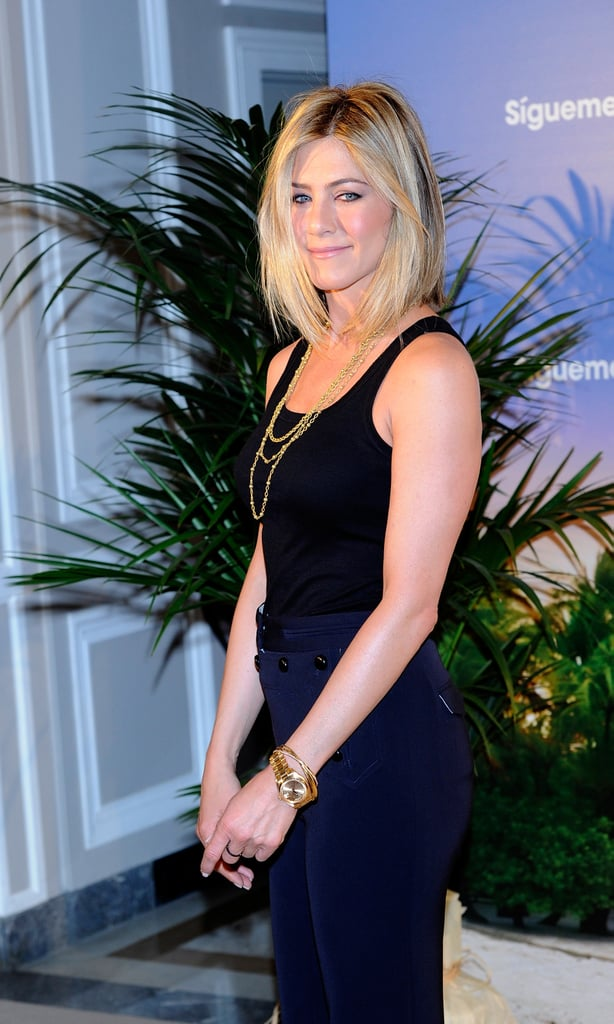Pictures Of Jennifer Anistons New Haircut In Madrid Popsugar