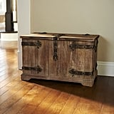 Household Essentials Victorian Small Storage Trunk in Brown
