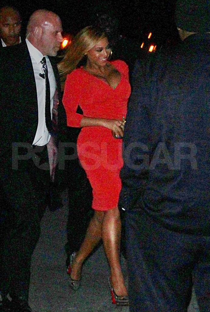 Beyonce Knowles looked fantastic as a new mom.