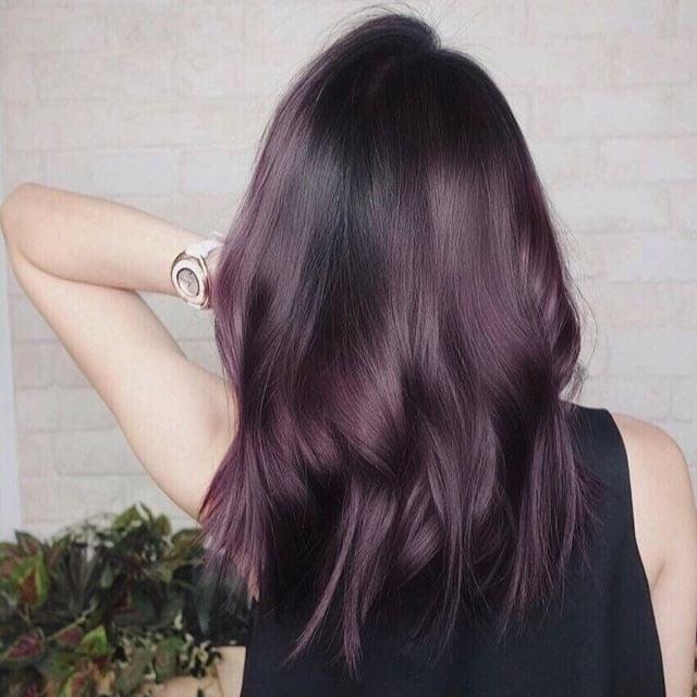 Aubergine Hair Colour Trend   POPSUGAR Beauty UK