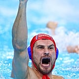 Serbian water polo player Slobodan Soro was enthusiastic after winning the bronze.