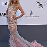 Paris Hilton arrived at the amfAR gala in Cannes on Thursday.