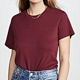 Shop a Similar Burgundy Oversize T-Shirt