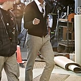 John Stamos hit the set of I Am Victor in Vancouver on Monday.
