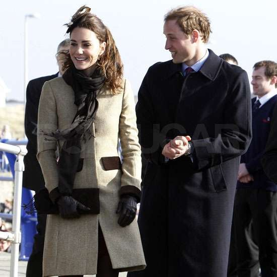 Pictures of Kate Middleton and Prince William on First Official Engagement at Lifeboat Naming in Anglesey