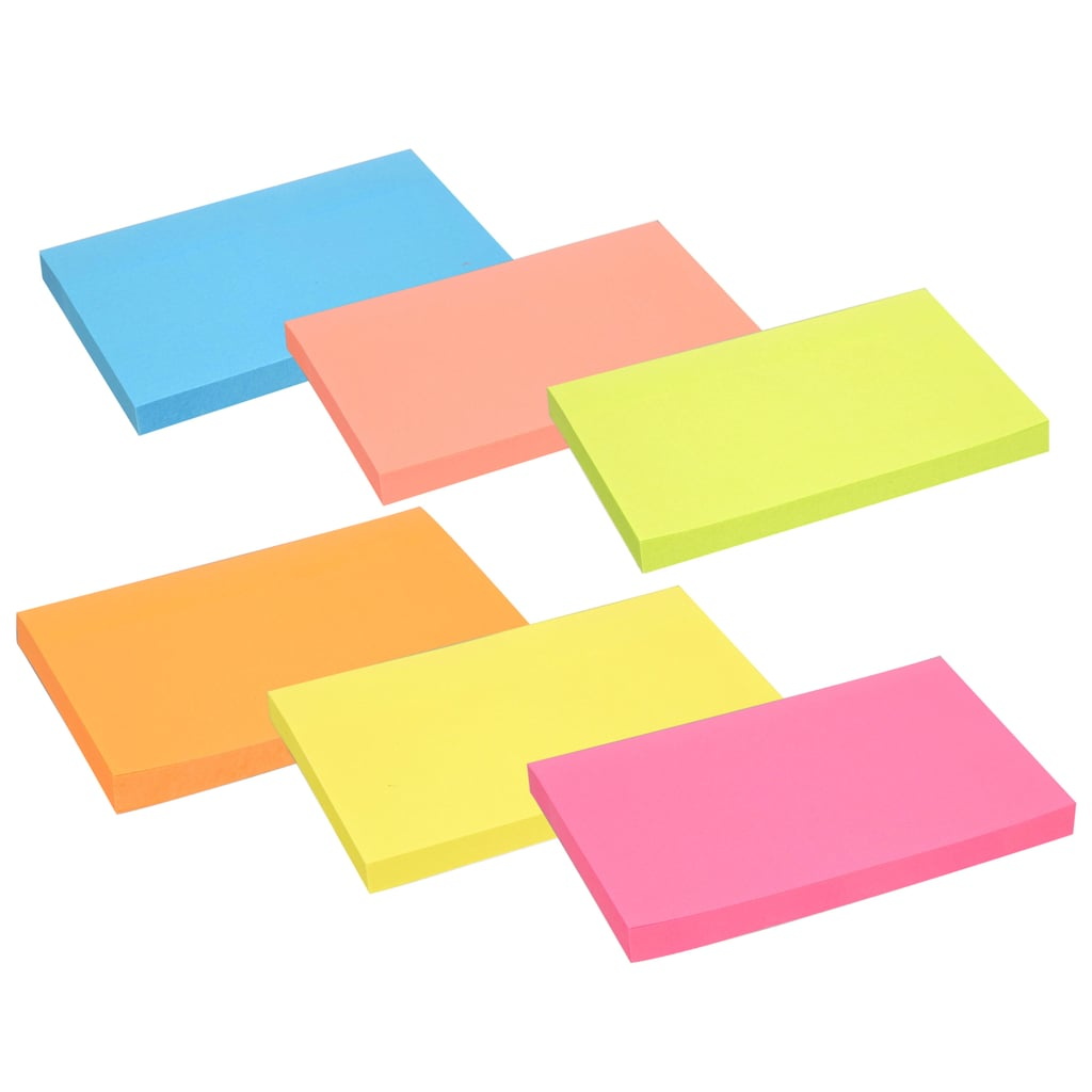 100-sheet Packs of Jot Neon Sticky Notes ($1 per pack)