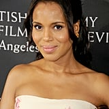 Kerry Washington played with pinks and purples at the BAFTA LA TV Tea — a very ladylike look, indeed.