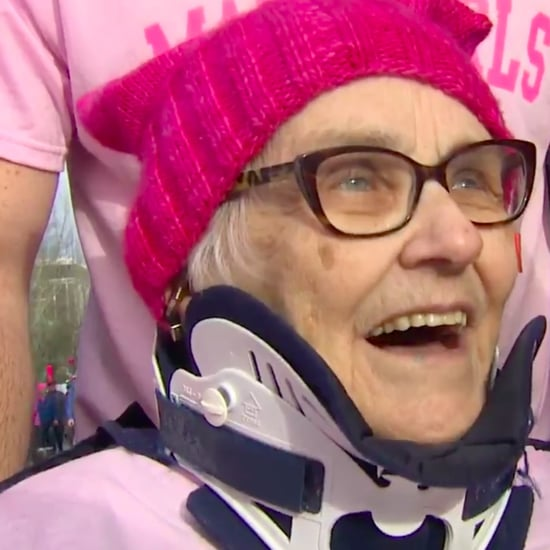 Elderly Hospice Patient Attends the Women's March