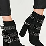Multi Strap Pointed Toe Ankle Boots (£30)