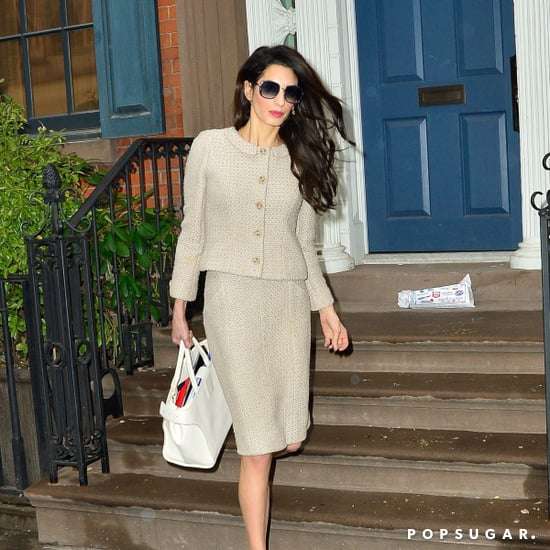 Amal Clooney Tweed Skirt Suit
