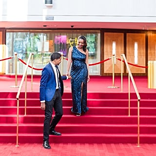 Glam Red Carpet Engagement Ideas