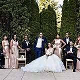 Her Bridesmaids Wore Gold Sequined Dresses