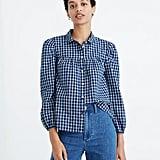 Plaid Peter Pan Collar Shirt
