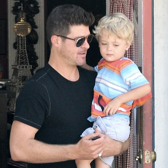 Robin Thicke With Son in LA