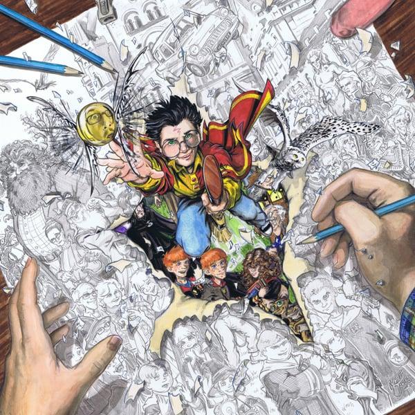 Harry Potter Fan Art Book Cover