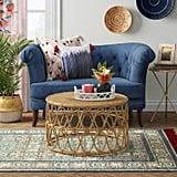 Indoor/Outdoor Geometric Woven Rug