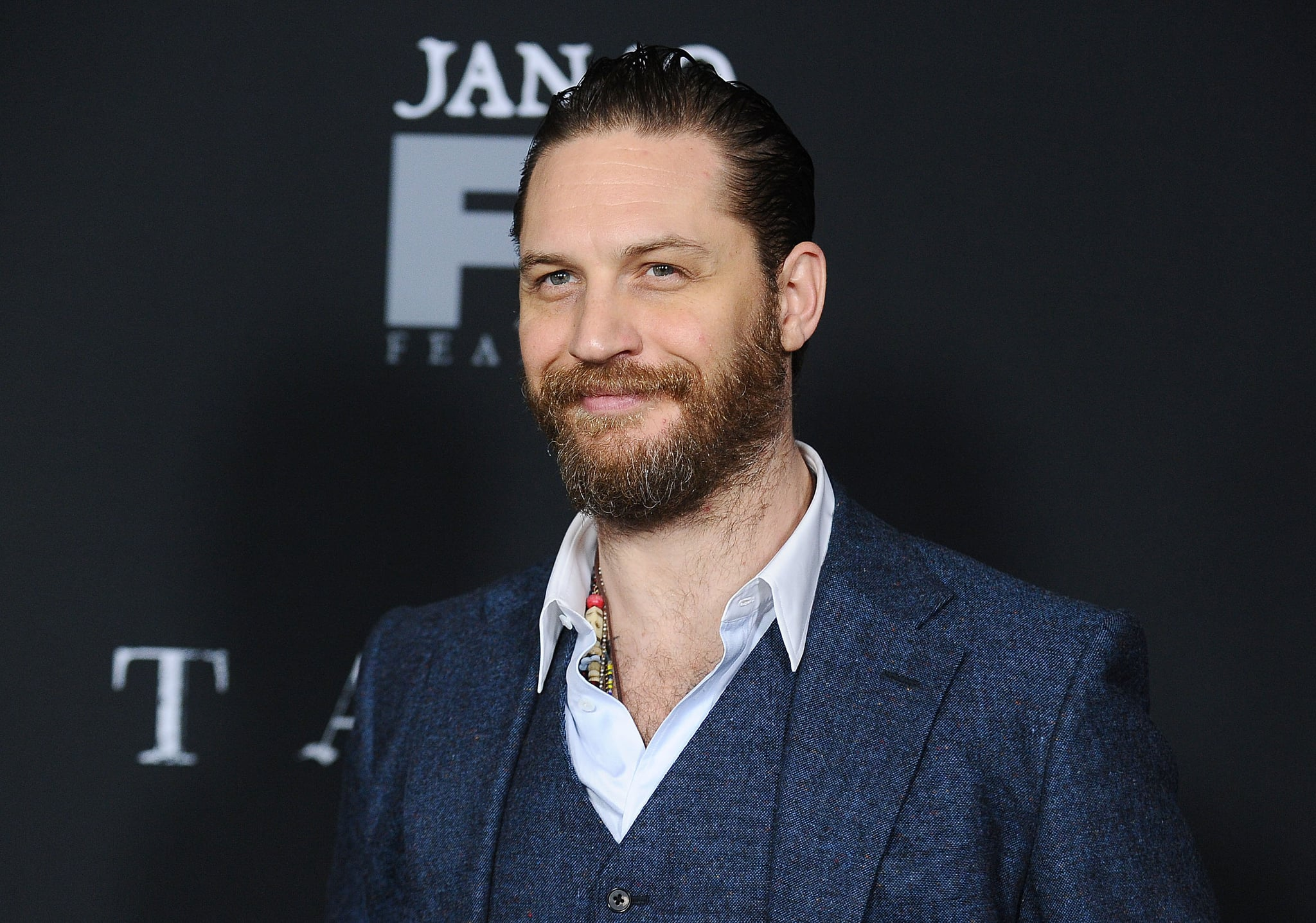 LOS ANGELES, CA - JANUARY 09:  Actor Tom Hardy attends the premiere of