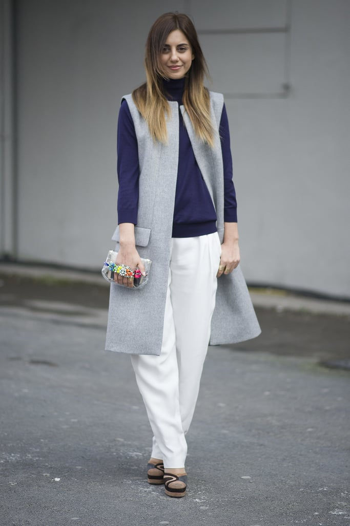 How to Style a Long Vest