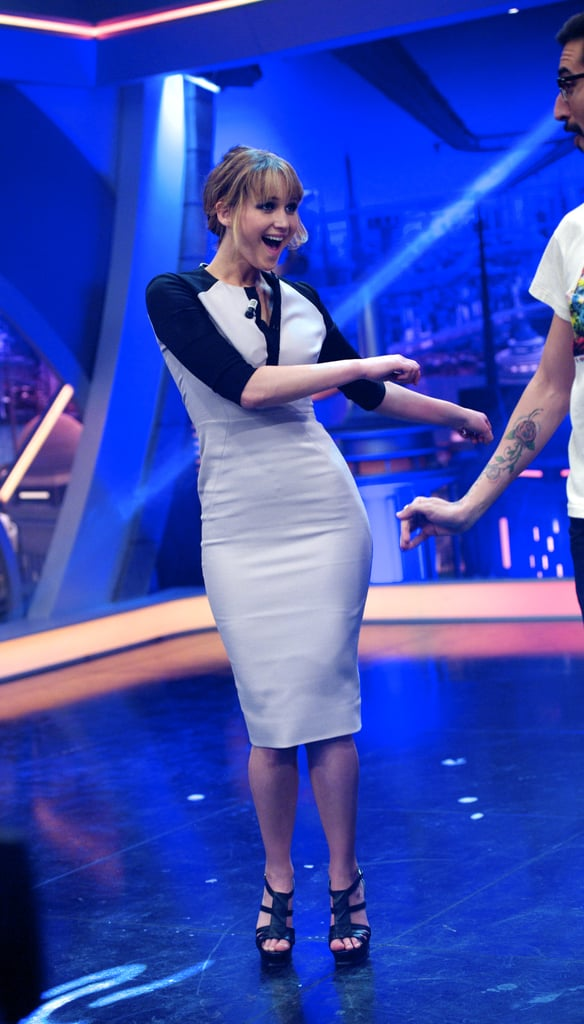 Jennifer Lawrence did the twist on the El Hormiguero show.