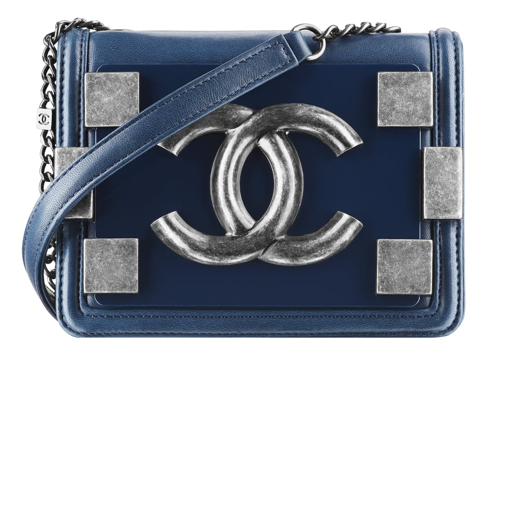 Chanel Peacock Blue Leather Bag With Pieces in Metal Photo courtesy of Chanel