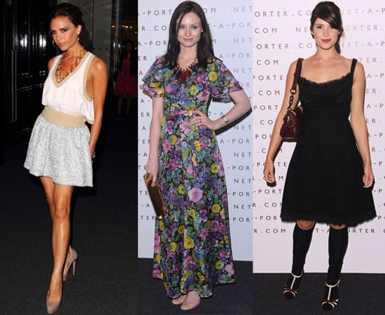 Pictures from Net-A-Porter's Tenth Birthday Party in Westfield With Victoria Beckham, Gemma Arterton
