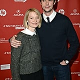 Mia Wasikowska posed with Matthew Goode on the red carpet at the premiere of Stoker on Sunday.