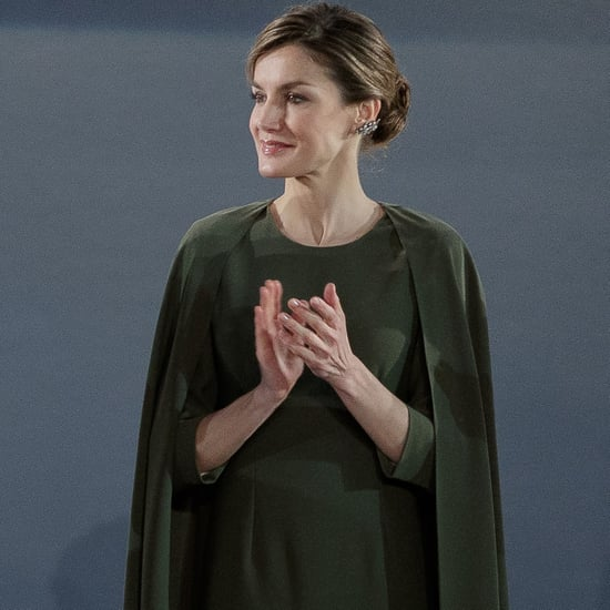 Queen Letizia's Cape Dress February 2017