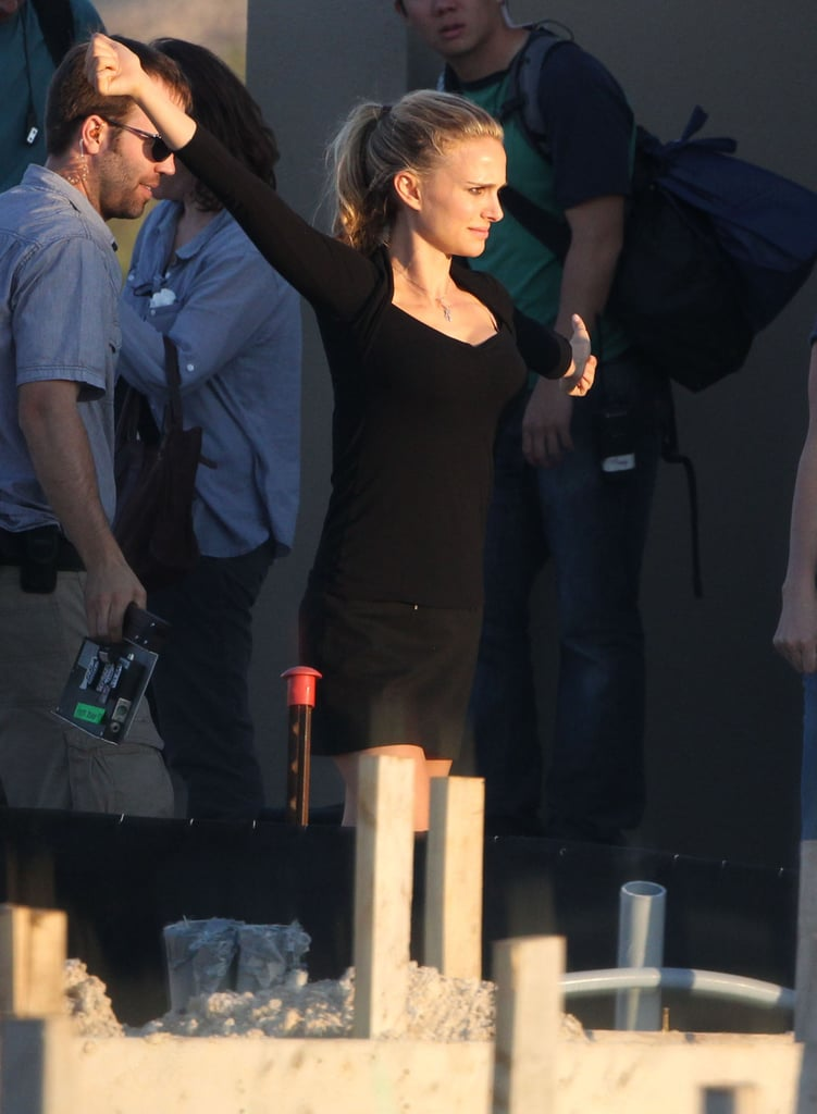 Natalie Portman filmed for her untitled Terrence Malick film in Texas.