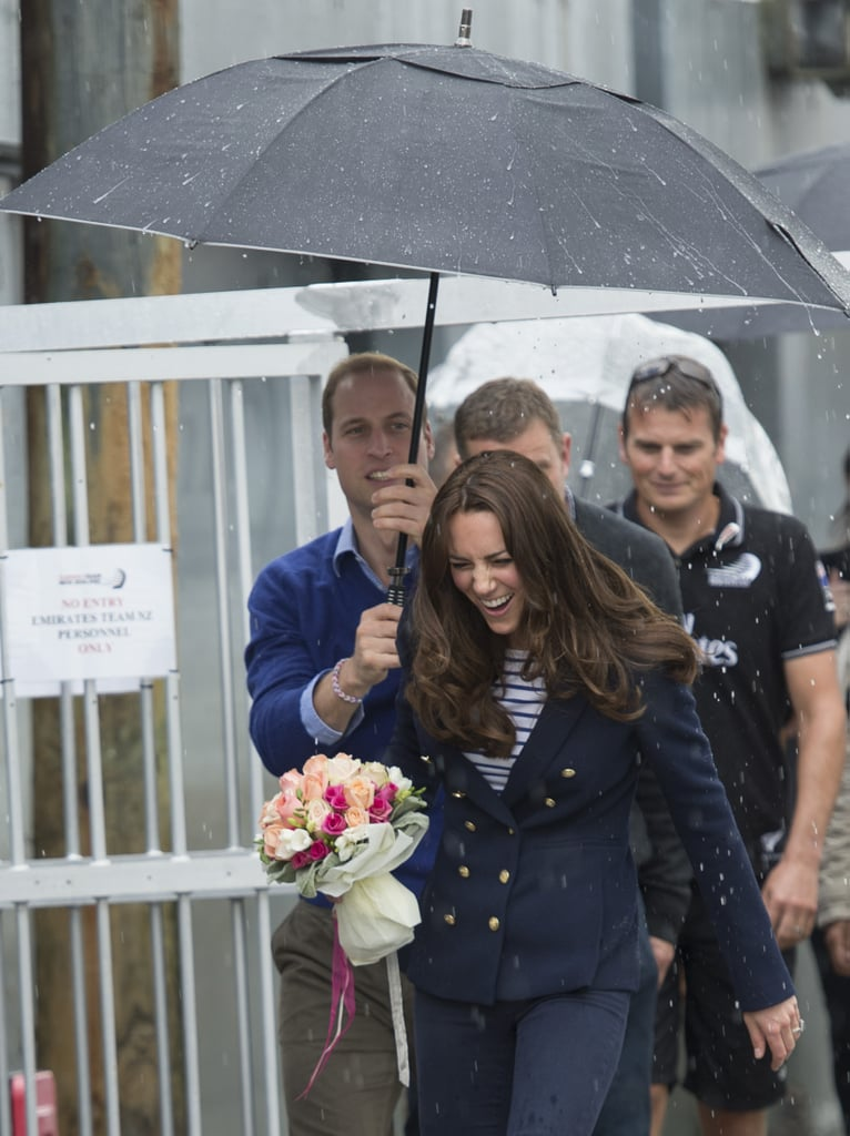 On April 11, William accidentally left Kate in the rain during a visit to the Auckland harbor in New Zealand.