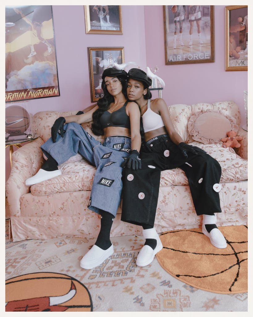 Kelsey Lu is wearing the Air Force 1 Lover XXs and Abra is wearing the Air Jordan 1 Lover XXs.