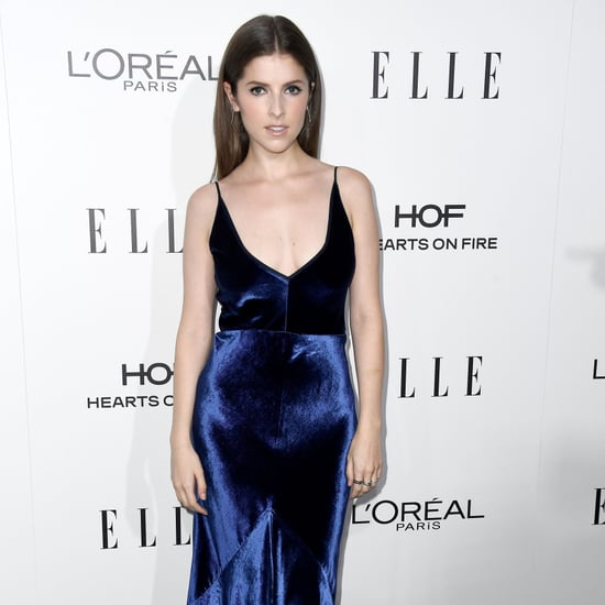 Anna Kendrick Gabriela Hearst Velvet Dress Oct. 2016