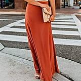 Imily Bela High-Waisted Chiffon Flowy Skirt