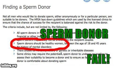 The Top Sign You Picked the Wrong Sperm Bank...