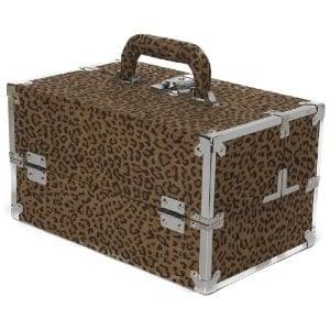Japonesque Medium Train Case in Leopard ($65)