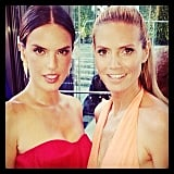 Alessandra Ambrosio wished Heidi Klum a happy birthday. Source: Instagram user alessandraambrosio