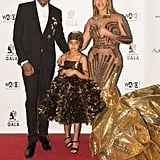 Twinning With Blue Ivy in Gold Gowns