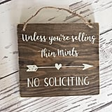 Thin Mints No Soliciting Sign with Arrow ($20)