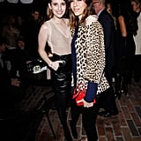 Emma Roberts linked up with Gia Coppola to check out Ferragamo's Spring runway collection in LA.