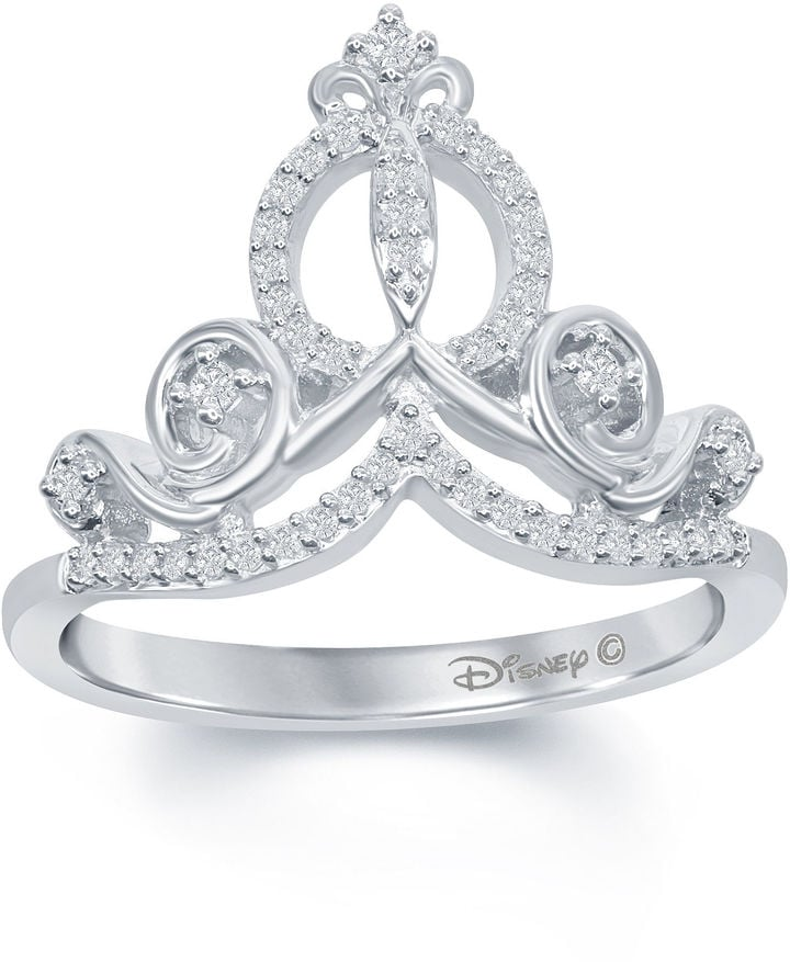 enchanted ring rings engagement cinderella halo bridal disney carriage