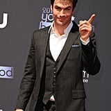 Presenter Ian Somerhalder joked around on the Young Hollywood Awards red carpet.