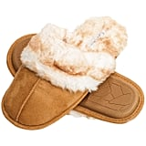 Jessica Simpson Memory Foam Women's House Slippers in Tan