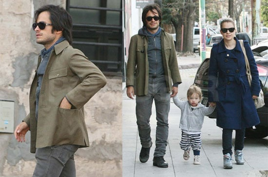 Pictures of Gael Garcia Bernal With Pregnant Wife Dolores and Son Lazaro