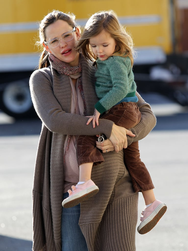 Jennifer Garner and Seraphina stayed close on a day together in LA.