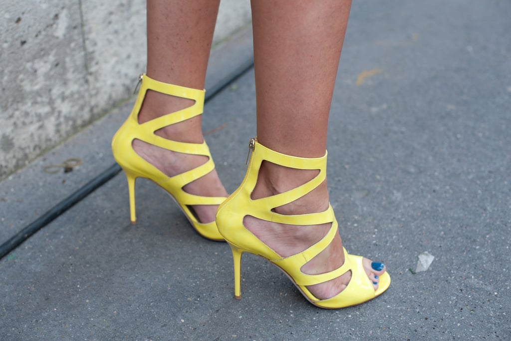 We love a bold Summer heel — especially when it plays off an equally cool pedicure.