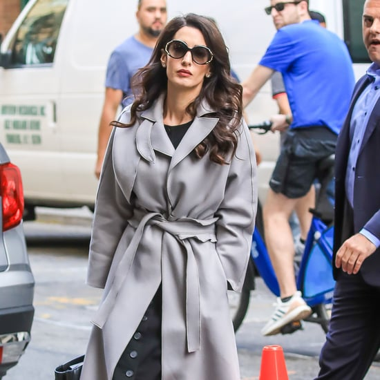 Amal Clooney's Gray Trench Coat