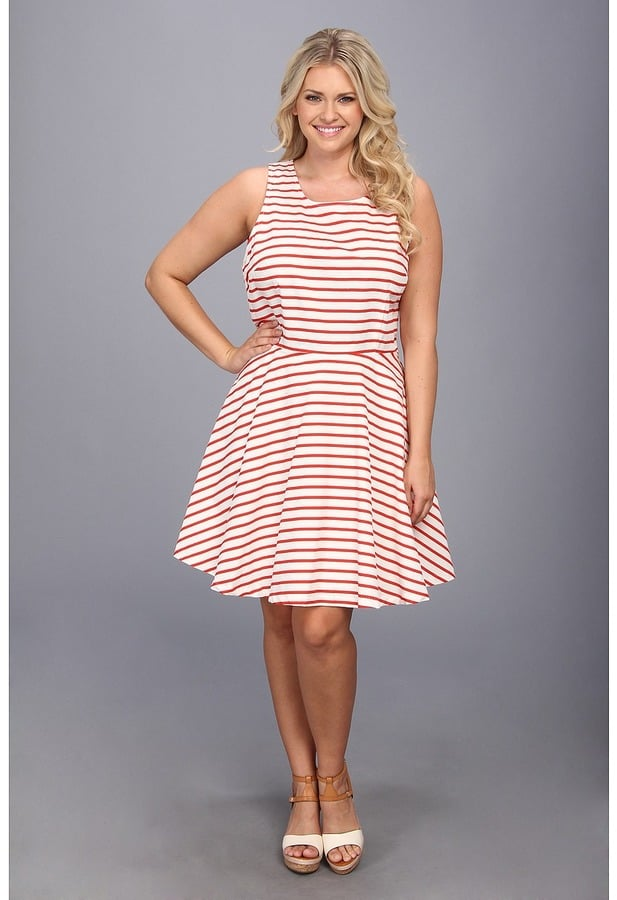 BB Dakota Plus-Size Striped Dress